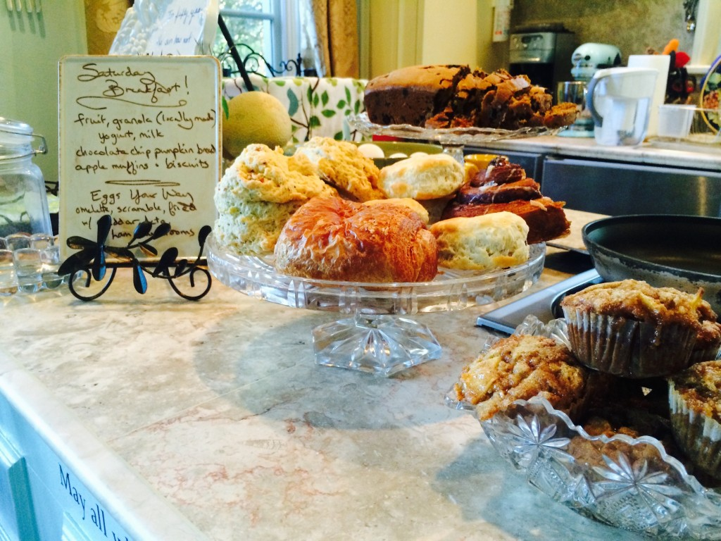 pastries and more for breakfast at the inn at 400 west high in charlottesville va