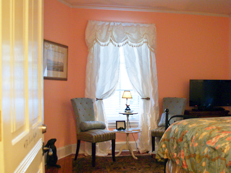 The West High Room has a queen bed, large private bathroom with rainhead shower, flatscreen tv with bluray, wireless internet